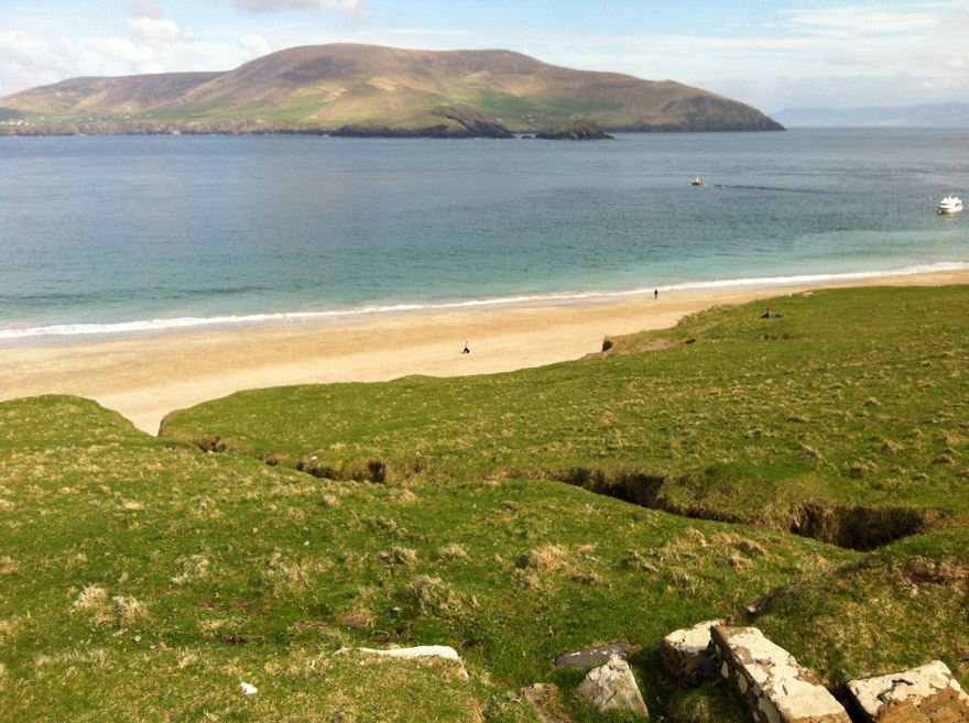 Blasket-Island-beach,-Dingle,-N