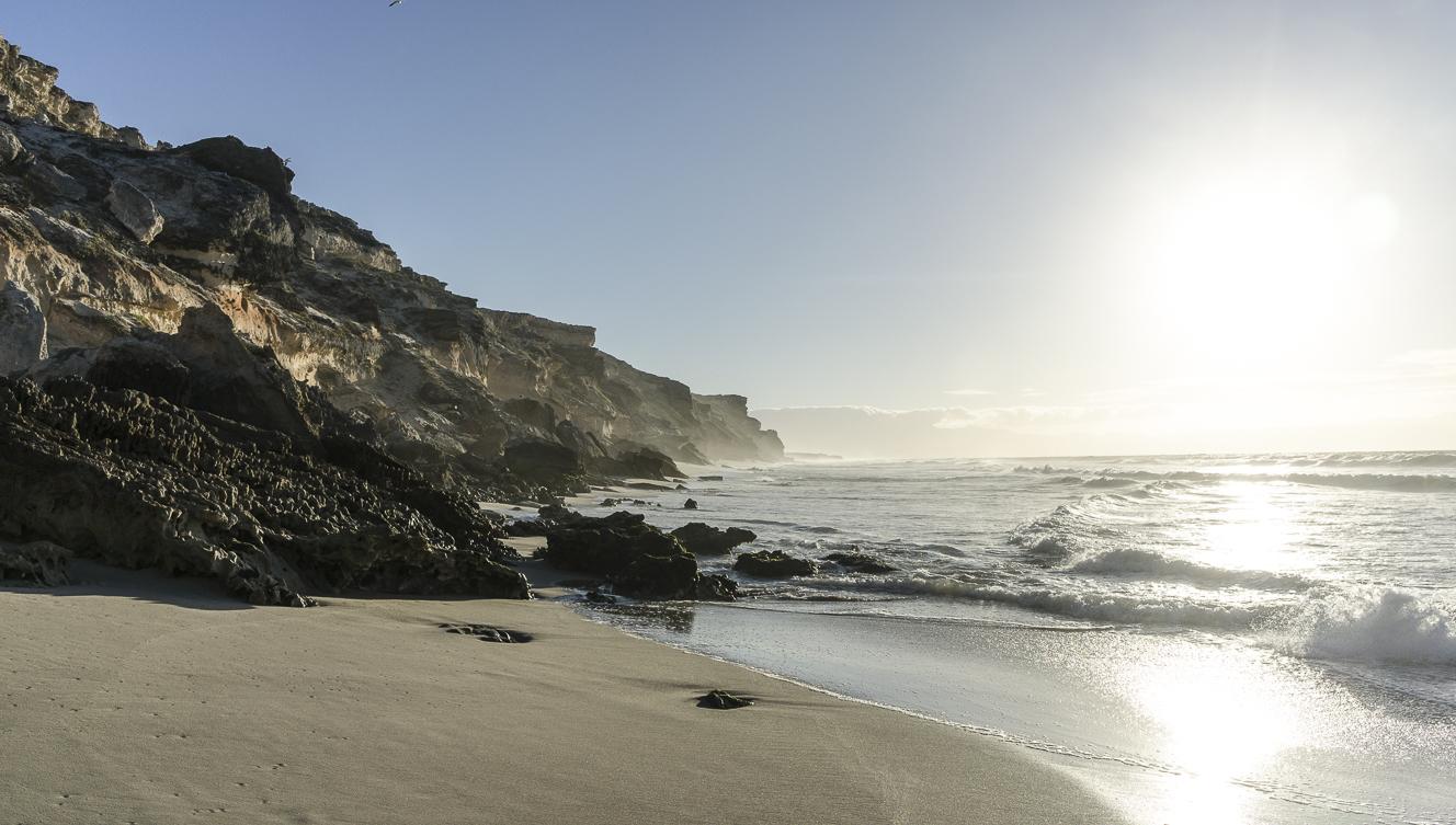 Wolfgat Beach Rock cliffs – East